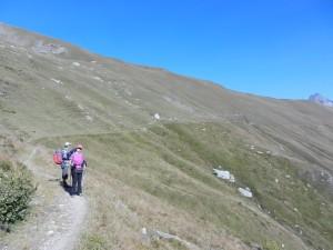 I verdi pendii sul lato Val Maira