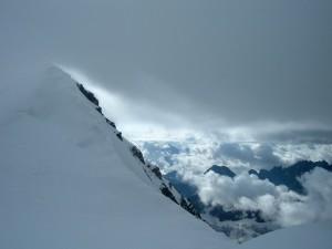 Cresta verso la vetta del Grand Combin