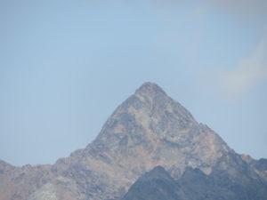 Punta Garin vista dal Mont Herban