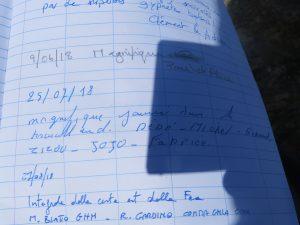 Libro di vetta della Girard