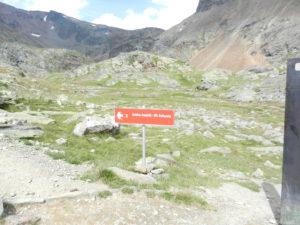 Traccia sentiero a inizio escursione