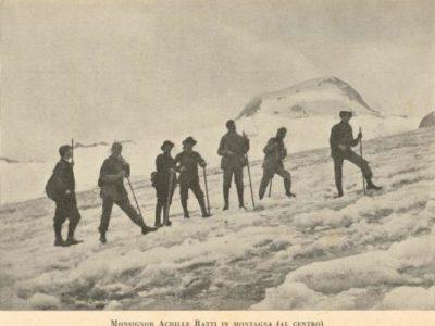 Achille Ratti in montagna