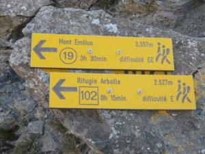 Indicazioni per il Rifugio Arbolle