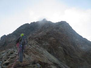 Sulla cresta della Punta Garin