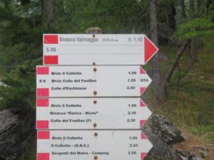 Palina indicante sentiero