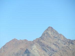 Punta Garin con la cresta di salita, a sinistra